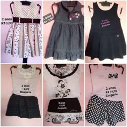 Roupa infantil 2 e 3 anos (vestidos,shorts, saias...)