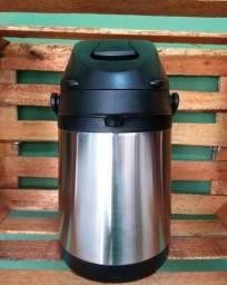 Garrafa Térmica Quente E Frio Aço Inox Resistente 2,5lts