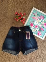 Short jeans 36/38 cós alto possui lycra 29,99