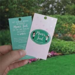 Tags, minitags, Cartão de visita E adesivos