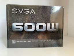 Fonte Real EVGA 600w 80 Plus - NOVA/LACRADA