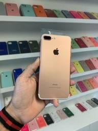 iPhone 7plus rose novo 128gb 6 meses de garantia pela loja
