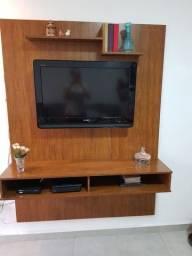 Título do anúncio: Painel/rack de madeira maciça.