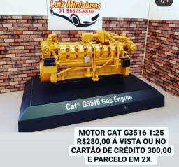 Título do anúncio: MINIATURA MOTOR CAT 1:25