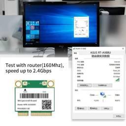 Título do anúncio: Wifi 6 banda dupla 3000mbps MPE-AX3000H sem fio aceita cartão