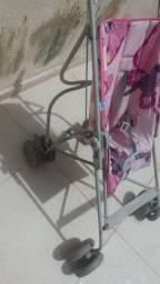 Carrinho de bebê FEMININO perfeitas condições cor rosa