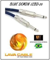Lava Cable Lcbd20 Blue Demon Cabo Guitarra Baixo P10 6m made in USA
