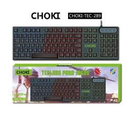 Teclado  Game com fio Choki-tec289