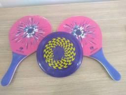 Kit Frescobol + Bola e Disco Frisbee