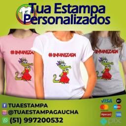 Camiseta Personalizada Vacinada!