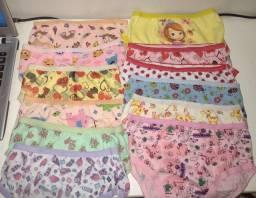 Kit 10 calcinhas infantil algodão