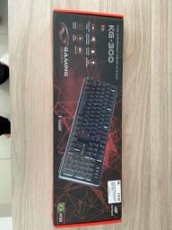 teclado gamer kg-300 e mouse gamer warrior 3200 dpi