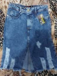 Saia jeans nova tamanho 38