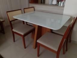Título do anúncio: Mesa slim 4 cadeiras de madeira maciça