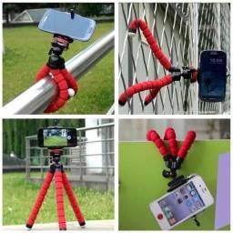 Tripé Celular Suporte Flexível Universal Câmeras Apoio Mesa até 5,5 pol.