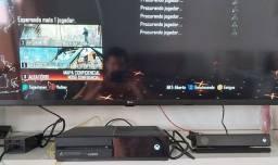 Xbox One 500gb conservado, dois controles + grandes jogos