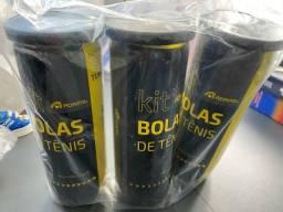 Kit com 3 tubos bola de tênis Adams
