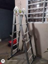 Escada articulada mult funções entrego aço e aluminio