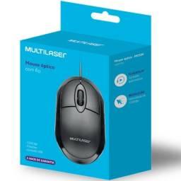 Mouse Classic Box Óptico Full Black Usb - Mo300 Multilaser