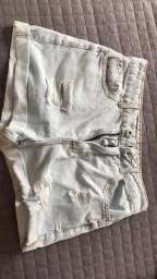 Short jeans Branco, tamanho 36 (novo)