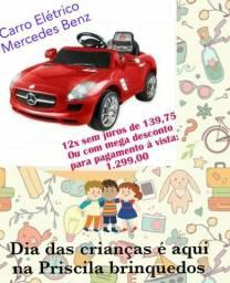 Dia das crianças: Carro elétrico$1.299/