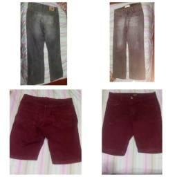 Calças, shorts, vestidos,sapatinhos,camisas masc/femin