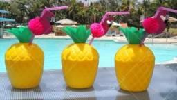 Copo de abacaxi e flamingo (30 unidades)