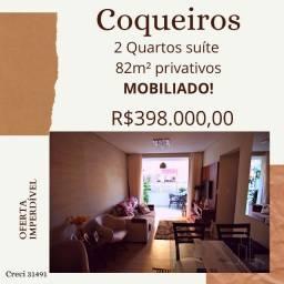 Mobiliado 2 Quartos suíte Coqueiros - Apartamento Térreo