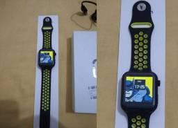 Smartwatch F10 na caixa completo