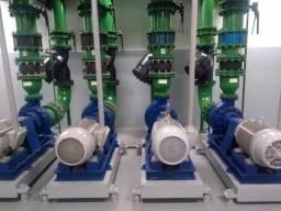 Manutenção em bombas centrífugas e quadro elétricos
