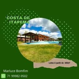 Magnífico Costa de Itapema, lotes a partir de 450m², entrada de 10% em Saubara