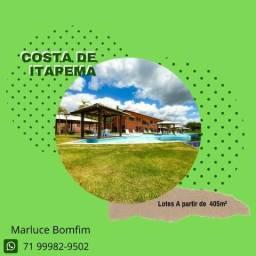 Costa de Itapema - Lotes em condomínio fechado, pronto para construir, próximo a Saubara