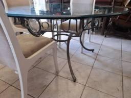Vendo mesa redonda  sem cadeira tampo 150x150 20mm