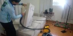 Higienização e limpeza de sofá