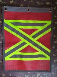 Bandeira Refletiva Para Sinalização de Veículo em Obra