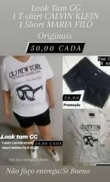 Look tam GG 1 T-shirt CALVIN KLEIN e 1 short MARIA FILÓ originais 50,00 cada