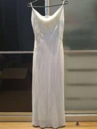 Vestido festa, branco, longo 40