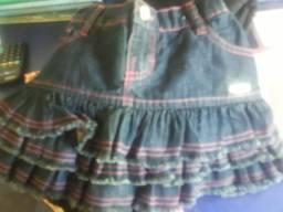 05 vestidos infantil, um macacão é um saía