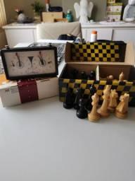 Jogo de peças de Xadrez Botticelli e relógio Jaehrig