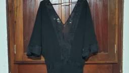 Título do anúncio: Vestido preto longo de festa