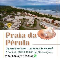 Praia da Pérola Ilhéus, apartamento 2/4 68m² - 198 Mil à vista, Oportunidade!
