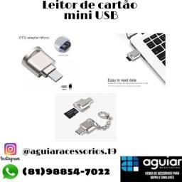 Leitor de cartão com entrada micro USB