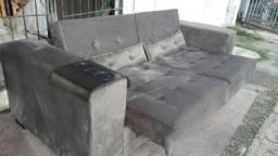 Sofáretrátil 3 lugares de luxo super confortável cobertura com 2.m largura