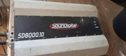 Título do anúncio: Módulo Amplificador SounDigital 8.000 Rms