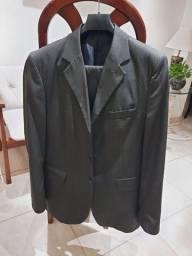Terno corte italiano preto. Blazer n.50 e calça n.42 + 02 gravatas
