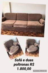 Sofa 4 lugares mais 2 poltronas