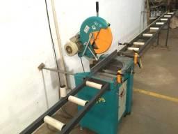 Máquina Corte Perfis Alumínio Ylmaz C/ Mesas Entrada e Saida