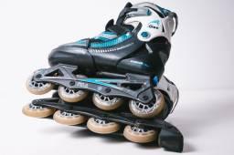 Roller inline Patins Azul Fila one tamanho ajustável