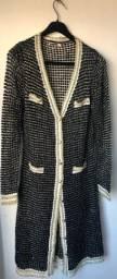 Casaco de malha alongado estilo CHANNEL tamanho G