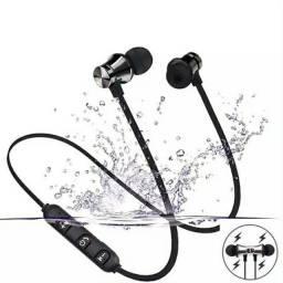 Fone de ouvido magnético Bluetooth para corridas e academia